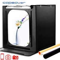 Capsaver F60 Tragbare LED Studio Foto Box Leuchtkasten 60cm Klapp Softbox 5500K CRI95 LED Licht Zelt Tabletop Fotografie studio