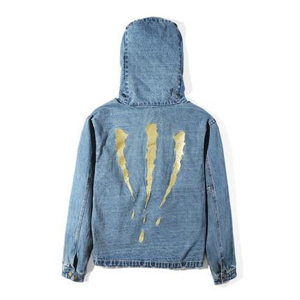 549b0d686ae Denim Jacket Men 2017 Autumn Fashion Multi Pocket Streetwear Distressed  Washed Hoodie Coats Hip Hop Casual Mens Jeans Jackets
