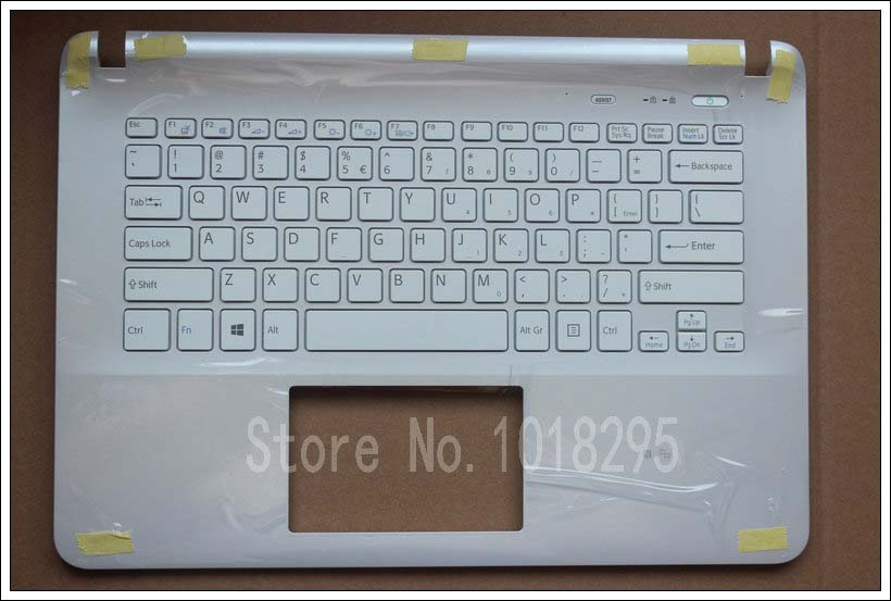 For sony Vaio SVF152C29U SVF152C29W SVF152C29X US keyboard with Palmrest Cover