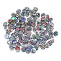 50pcs/lot crystal lots of styles 12mm metal ginger snaps button for bracelet  female armhand bangle stering silver jewelry  M716