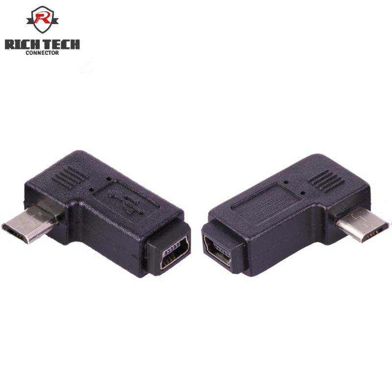 Micro USB connector Elbow HDMI adapter right angle male plug to female jack mini 5pins vakind black right angle 90 degree l shape adapter micro usb female to micro usb male adapter charging cable connector adapter