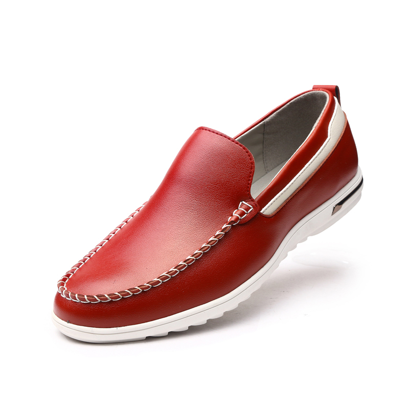 2019 Men Casual Shoes Casual Genuine Leather Loafers Driving Moccasins Slip On Shoes Comfortable And Breathable Shoes DA056 in Men 39 s Casual Shoes from Shoes