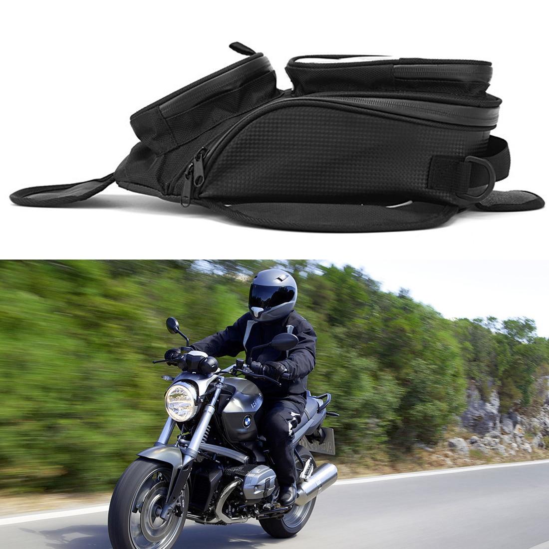 Dewtreetali nowy olej torba mocowana na zbiornik paliwa magnetyczny motocykl motocykl torba mocowana na zbiornik paliwa torebka podsiodłowa w/większe okno akcesoria