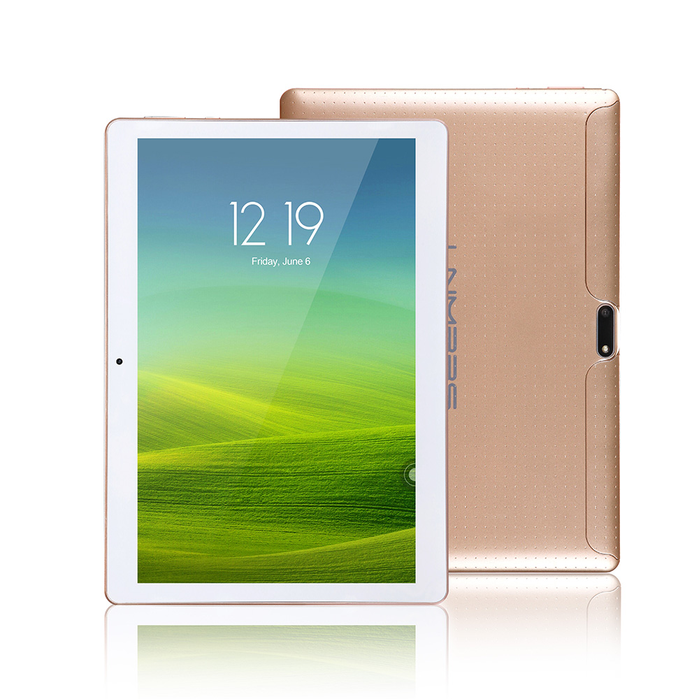 LNMBBS 10.1 inch Android 7.0 Tablets golden google play mtk8752 octa core 1920*1200 3G WCDMA 4GB RAM 32GB ROM utra slim gps wifi акриловая ванна sonata 180x80 ravak cw01000000