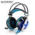 Fones de ouvido de jogos ps4 kotion each gs700 sobre fones de ouvido usb + 3.5mm gaming headset com microfone led light para laptop móvel telefones