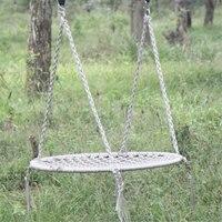 Для отдыха на открытом воздухе круговой сети качалками нейлоновой веревкой качели спальный парашют кресло гамак садовые качели висит откр
