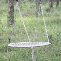 Outdoor Leisure Circular Network Swing Chair Nylon Rope Swing Sleeping Parachute Hammock Chair Garden Swing Hanging
