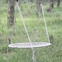Outdoor Leisure Circular Network Swing Chair Nylon Rope Swing Sleeping Parachute Hammock Chair Garden Swing Hanging Outdoor