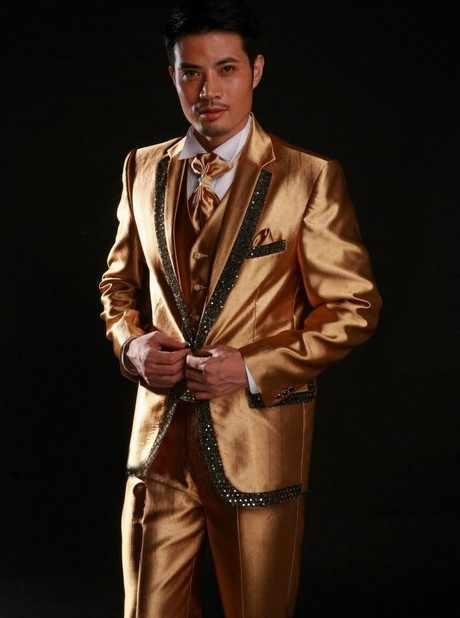 2016-New到着ファッション安い新郎タキシード 、 カスタム メイド メンズ摩耗ウェディング パーティー花婿の付添人スーツ メンズ スーツ (ジャケット + パンツ + ネクタイ + ベスト
