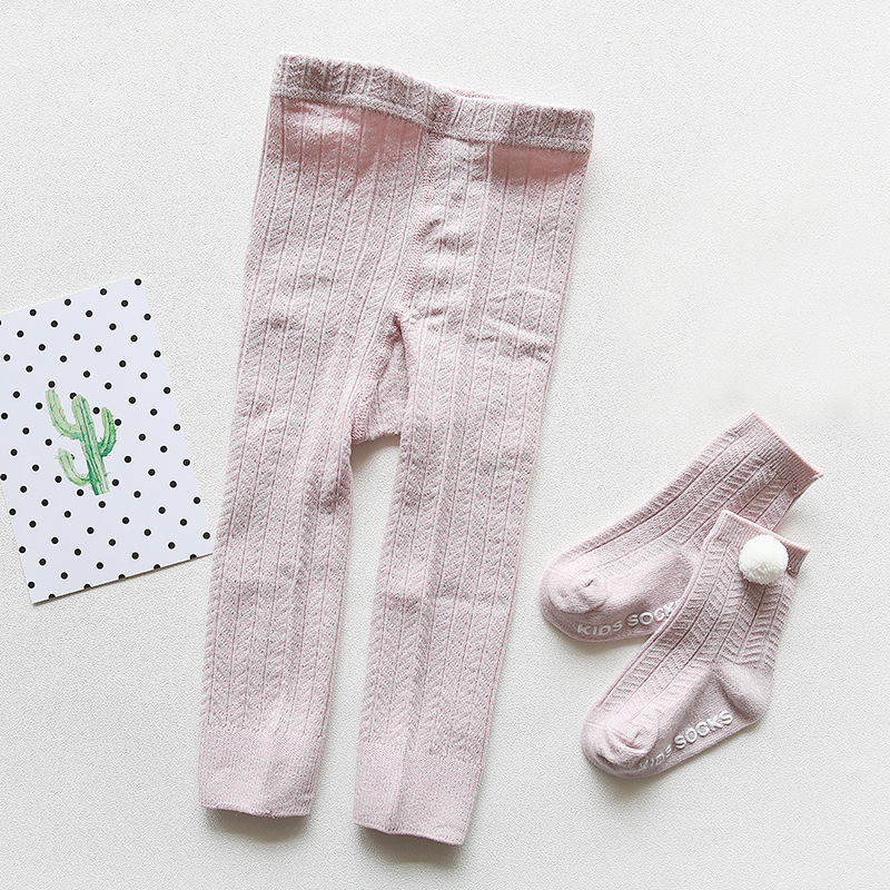 0 2Y Summer Thin Baby Infant Girl Knitted Cotton Tights Toddler Newborn Kids Pantyhose Baby Fashion Stocking in Tights from Mother Kids