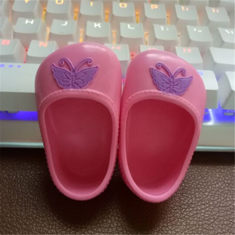 Pink & Purple Butterfly doll shoes fit 43cm Baby Born zapf, Children best Birthday Gift