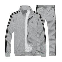 Men 4XL 5XL 6X 7XL 8XL Hoodies Suit Sportswear Set Sweatshirt and pant Warm Jogging Suits Quality Male Active Cotton Tracksuit
