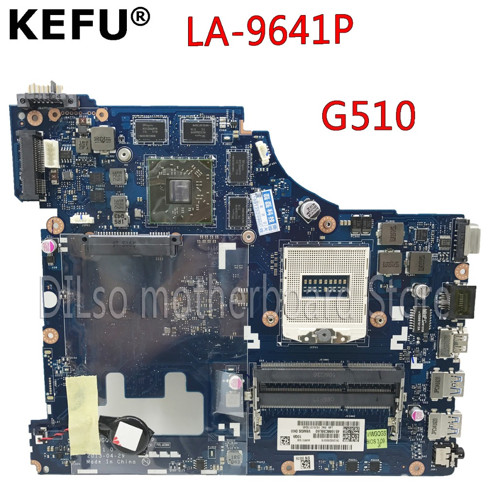 KEFU G510 For Lenovo G510 motherboard for Lenovo VIWGQGS LA-9641P Laptop Motherboard 8 video chips 2GB Test original 100% workKEFU G510 For Lenovo G510 motherboard for Lenovo VIWGQGS LA-9641P Laptop Motherboard 8 video chips 2GB Test original 100% work
