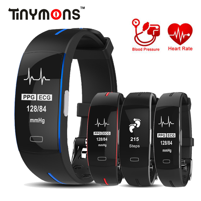 <font><b>P3</b></font> Heart Rate <font><b>Smart</b></font> <font><b>Band</b></font> IP67 waterpoof Activity tracker Sport Fitness Bracelet with Blood Pressure ECG+PPG Monitor image