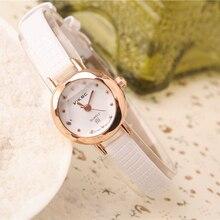 Cindiry Hot Sales Fashion Women's Watch Small Dial Rose Gold Leather Bracelet Quartz Watch S0S47 P40