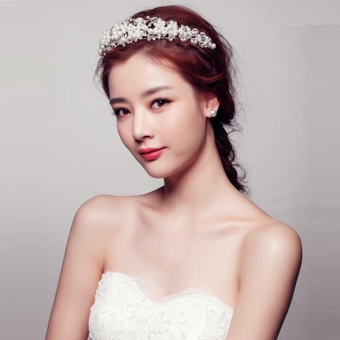 bridal crown wedding jewerly tiara koreas new sliver