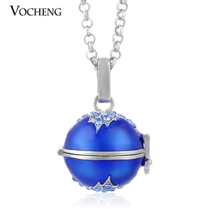 Image 4 - 10pcs/lot Vocheng Angel Locket Colorful Maple Leaf Style Pendant Necklace with Stainless Steel Chain VA 085*10 Free Shipping