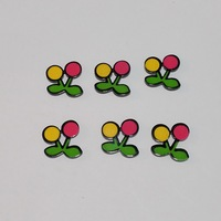 Little Cherry Beads Small Flower Button Acrylic Fashion Jewelry Accessories