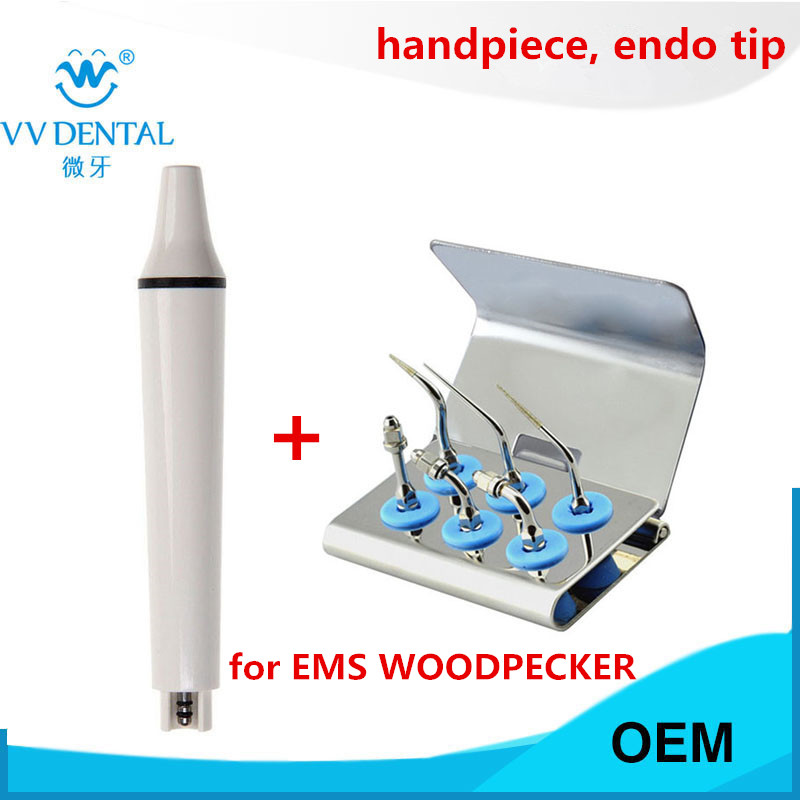 Dental ultrasonic scaler handpiece endodontic root canal dental tip for EMS, WOODPECKER for teeth whitening
