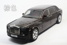 Kyosho 1/18 Brown Rolls-Royce Phantom EWB Extended Wheelbase Die-Cast Model Car Director Cut Vehicle Luxury Collection