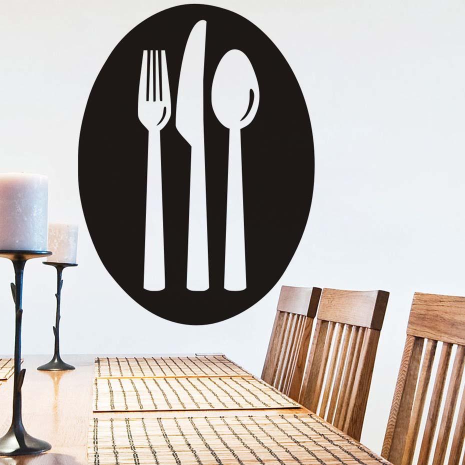 Design Simple cuisine Sticker mural cuillère fourchette couteau