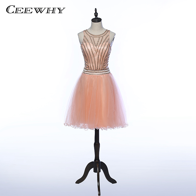 CEEWHY Luxury Beading Formal Party   Dress   Short Prom Gown Beading   Cocktail     Dresses   Vestidos de Coctel   Dress   for   Cocktail   Party