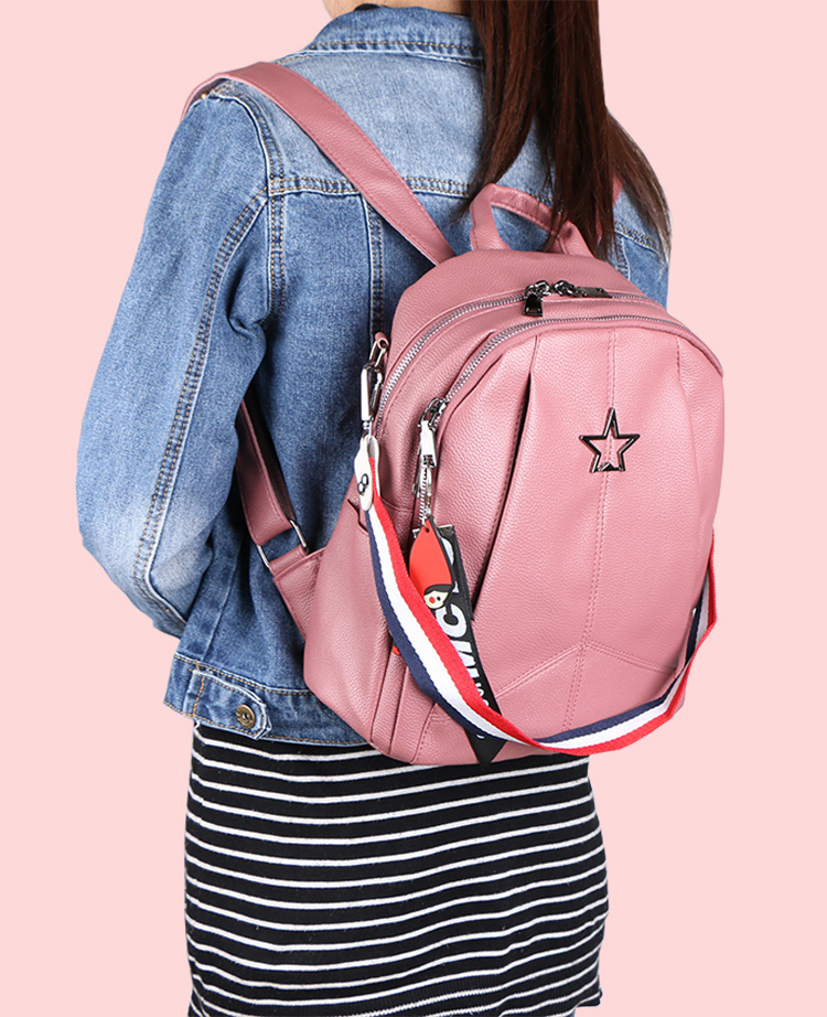 HTB1QBBZPMHqK1RjSZJnq6zNLpXa8 Minimalism Female Backpack Pu Leather Youth Women Bagpack Beautiful Fashion Girl Casual Rucksacks Lady Shoulder Bag 2019 New