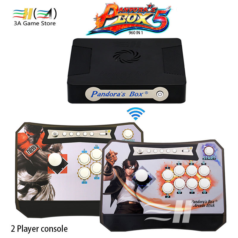 Arcade Controller Kit Pandora Box 5 960 in 1 Wireless Arcade Stick 960 Games XBOX360 PS3 PC Game Fighting Joystick Arcade Sticks цена