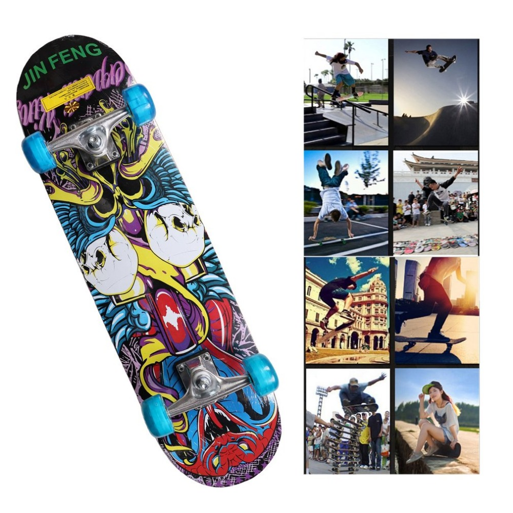 Double Sided Four-Wheel Children Skateboard Kids Entertainment Skate Scooter Outdoor Extreme Sports Hoverboard For Entertainment new arrive flash wheel children skateboard kids entertainment flash skate scooter outdoor extreme sports hoverboard