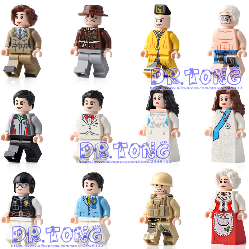 DR TONG 120pcs Professionals Western Wedding Wedding Characters Couriers Lam Ching Ying Building Blocks Bricks Toys Child Gifts tao ching ying taipei