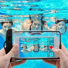 Водонепроницаемая сумка, чехол для телефона iPhone X 8, подводный светящийся чехол для телефона samsung S9, прозрачный ПВХ герметичный чехол для плавания