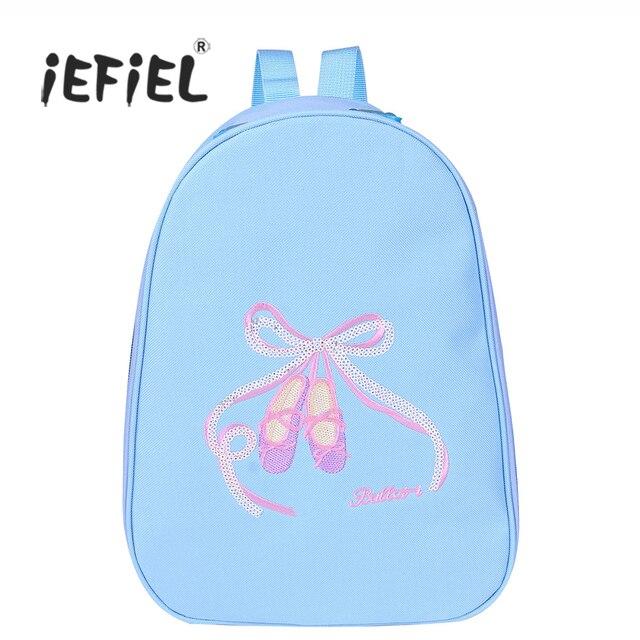 f5e41dd31d84 IEFiEL/модные балетные, для маленьких девочек рюкзак для танцев носком  обувь вышитая сумка для
