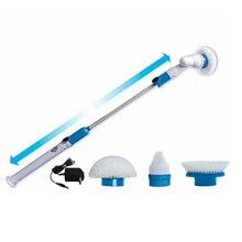 Электрический Турбо скраб щетка для чистки беспроводной зарядки Регулируемая длинная ручка Очиститель скруббер ванная комната кухня чистящие инструменты