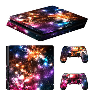 Image 4 - blue Starry Sky Star Console Skin Cover For Playstation 4 Slim Console PS4 Slim Skin Stickers Controller LED Protective