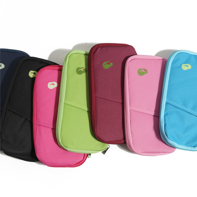 cfa297aa4 7 colors casual nylon wallet for women passport holder credit card  organizer clutch bag 2017 women