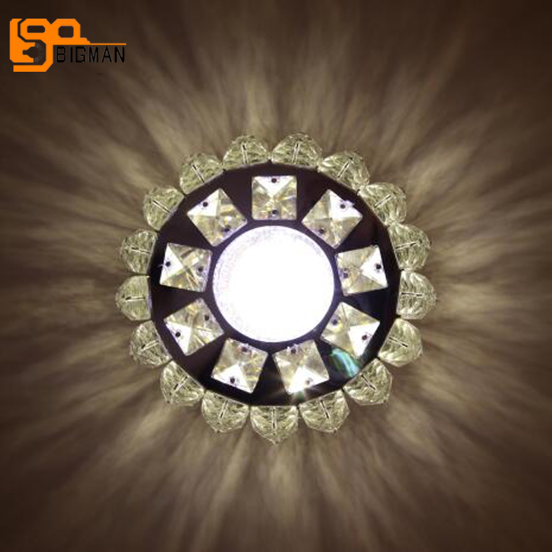 Nouveau design cristal plafond lampe lustre plafonnier led moderne