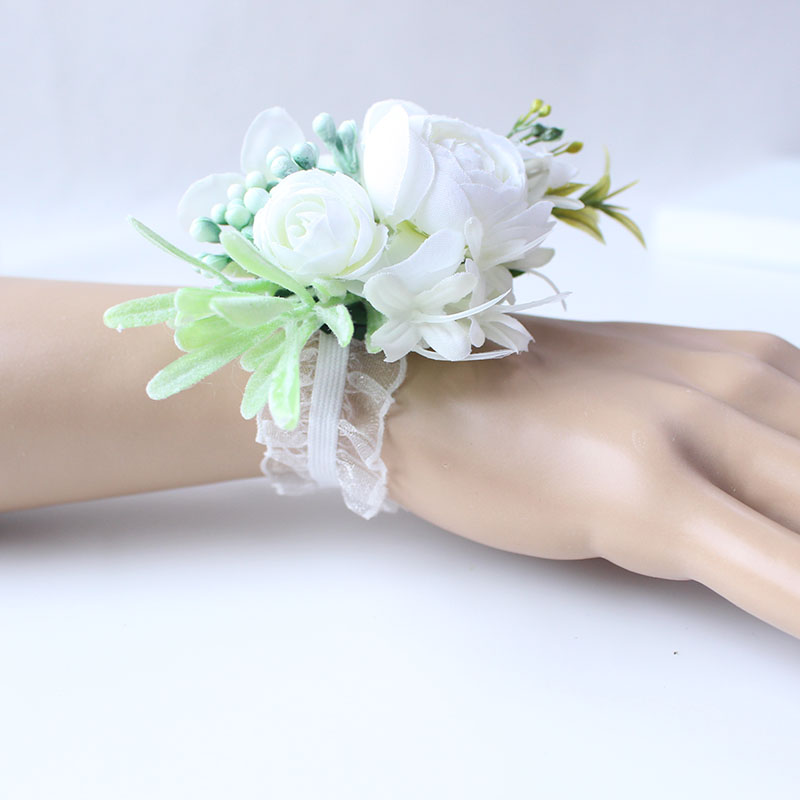 wrist flower bridesmaid wedding wrist corsage (4)