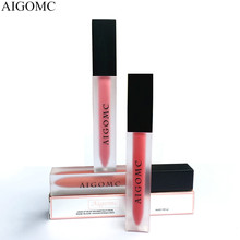 AIGOMC NEW Brand matte velvet waterproof non-stick cup liquid lip gloss lipstick glaze Makeup