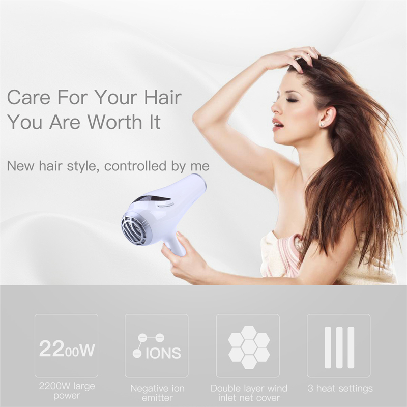 Riwa Professional 2200W Hair Dryer Blow Diffuser Attachment Curly Drying Styling Tools Hot&Cold Air Negative Ion No Damage Hair professional sports kneepad warm air drying