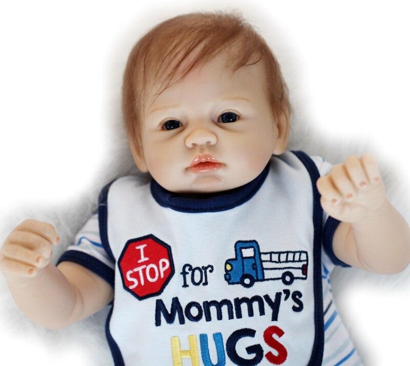 Poupée bébé dollmai 55CM 22 pouces poupée bebes Reborn poupées fille réaliste Silicone Reborn poupée mode garçon fille nouveau-né Reborn bébés - 4