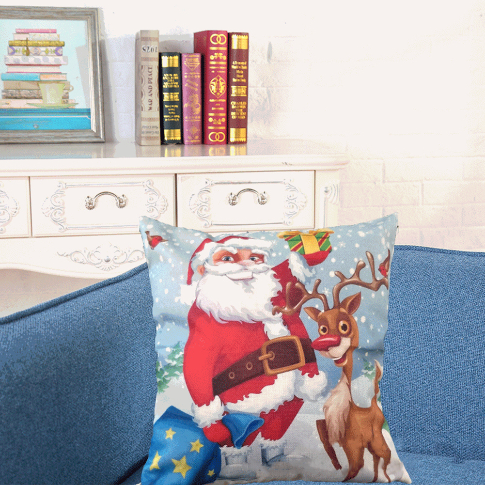 Cushion Cover For Christmas Home Decoration 2017 Multicolor LED Light Sofa Throw Pillow Ca