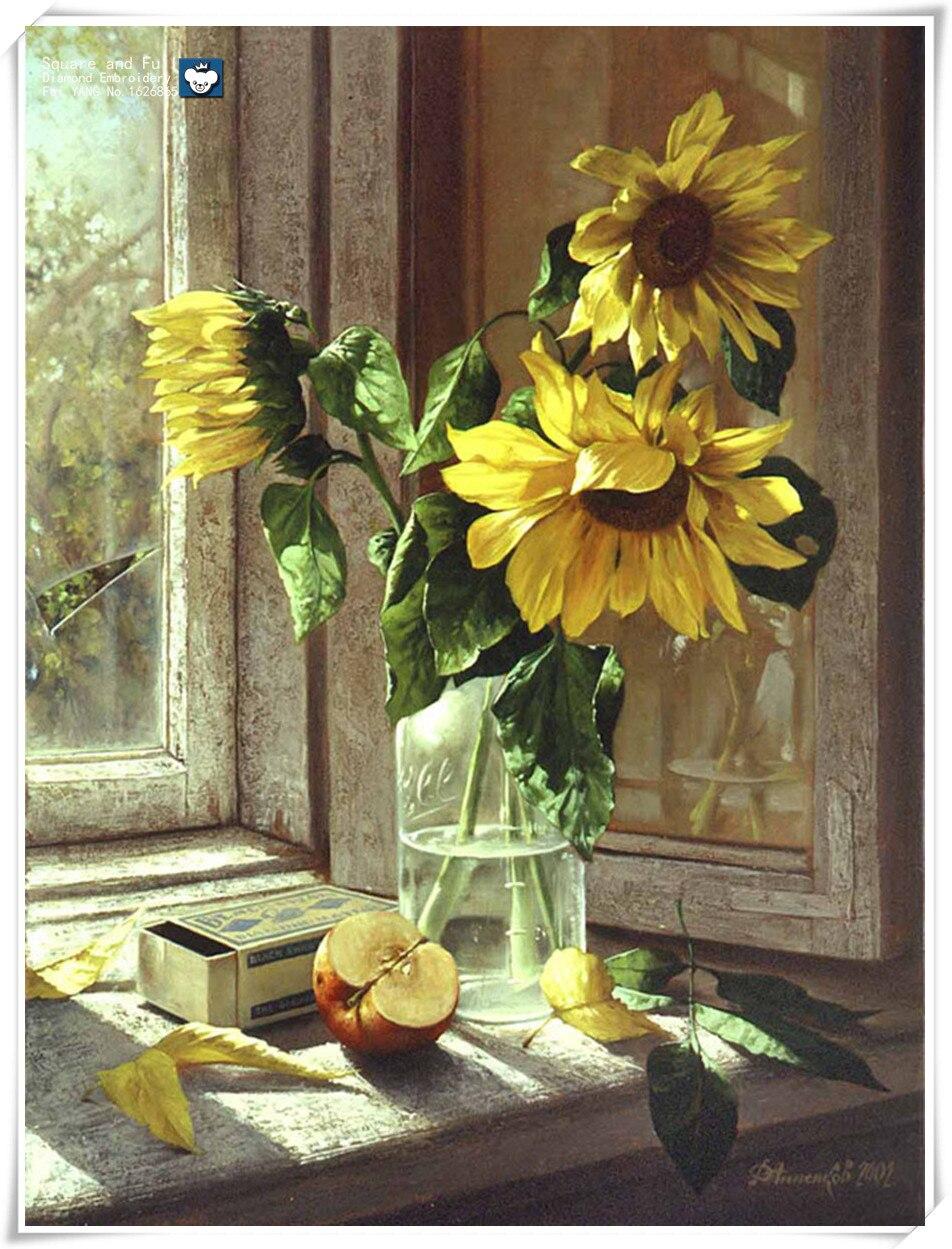 ⓪3D Diamant stickerei Blumen Sonnenblumen Diamant malerei Diamant ...