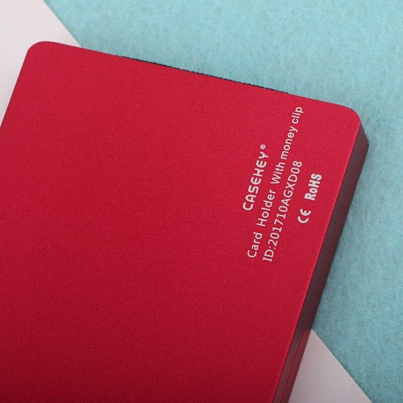 Men Women Metal ID Credit Card Holder RFID Protector Aluminum Wallet Card Case