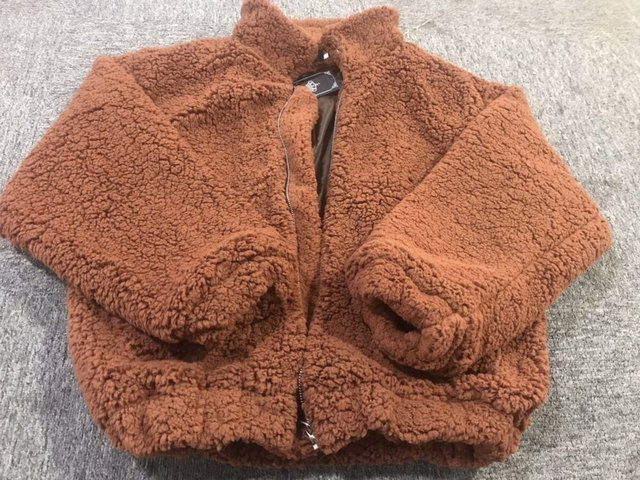 Naiveroo Lapel Sweatshirt Fleece Fur Coat 2018 Women Autumn Winter Warm Soft Jacket Thick Plush Zipper Overcoat Short Outerwear 3