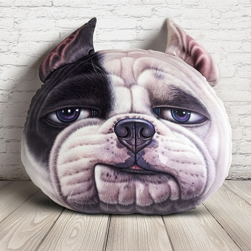 Large Size Approx 50x40Cm 3D Printed Dog Cat Face Cushion Home Decoration Car Seat Cushion Plush Pillow Kids Birthday Toys Gift ...