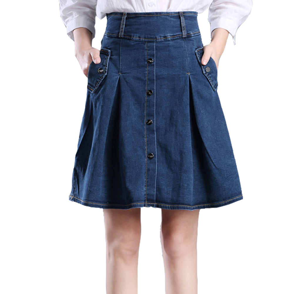 buy wholesale jean knee length skirts from china