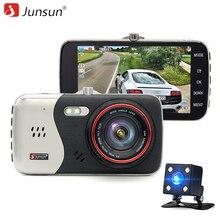 Новый двойной объектив Автомобильный видеорегистратор камеры Dash Cam Full HD 1080P Видеорегистратор Монитор парковки Автоматический задний вид Обнаружение движения камеры