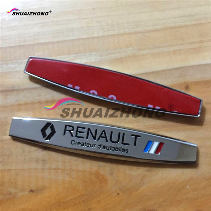 2PCS Free shipping Renault Koleos wind Lang Lat card Bin fender side Emblem Badge Decal rear bumper trunk Sticker Car style