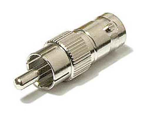 8 piezas BNC hembra a RCA macho adaptador conector de vídeo para cámara cctv