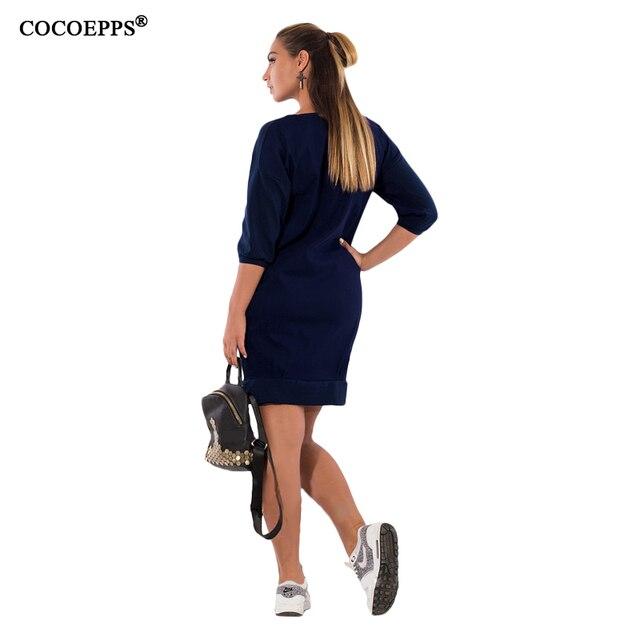 2019 5xl 6xl Letter Print New Women Dresses Large Size Winter Warm Dress Plus Size women Clothing Casual  Elegant Blue vestidos 6